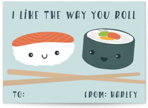 Sushi Love Classroom Valentine's Cards