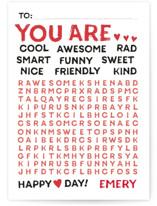 Wonderful Words Classroom Valentine's Cards
