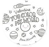 Color In My World Classroom Valentine's Cards