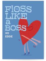 Valentine Floss Boss Classroom Valentine's Cards