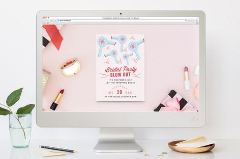 Hairdo Bachelorette Party Online Invitations