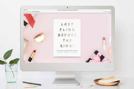 Last Fling Bling Bachelorette Party Online Invitations