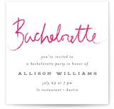 Lipstick Bachelorette Party Online Invitations
