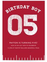 Red Zone Children's Birthday Party Online Invitations