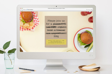 Buzzword - Free BBQ Cocktail Party Online Invitations