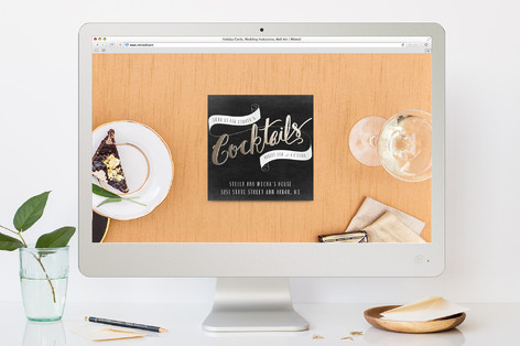 Cocktails And Cheer Cocktail Party Online Invitations