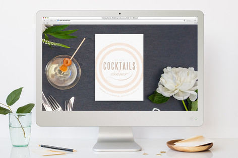 Rose Colored Glass Cocktail Party Online Invitations