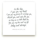 Your Vows as an Art Print Kids Drawn Art
