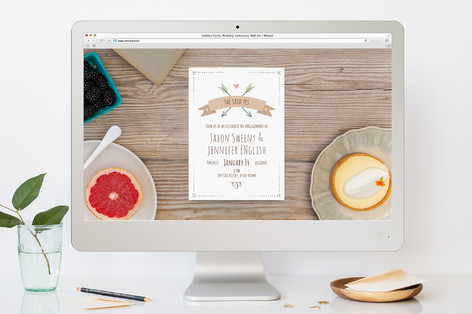 Natural Romance Engagement Party Online Invitations