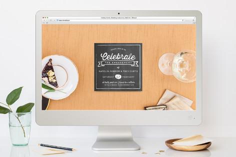 Vintage Chalkboard Engagement Party Online Invitations