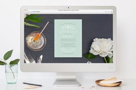Creamy Swirls First Holy Communion Online Invitations
