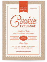 Cookie Label Holiday Party Online Invitations