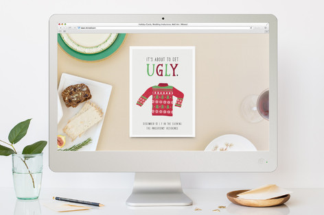 Get Ugly Holiday Party Online Invitations