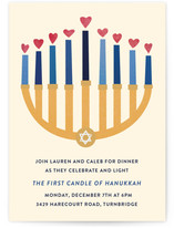 Ahava Hanukkah Online Invitations