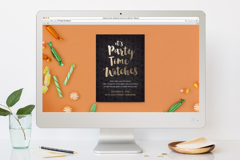 All My Witches Halloween Online Invitations