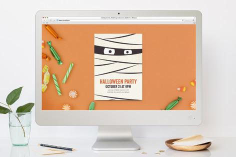 The Mummy Halloween Online Invitations