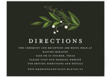 Vines of Green Direction Cards