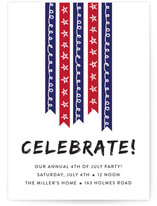 Stars And Stripes 4th of July Online Invitations