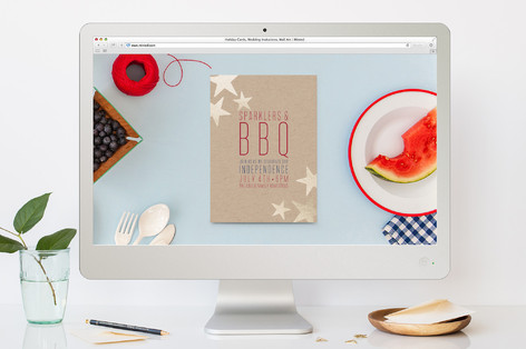 Sparklers & BBQ 4th of July Online Invitations