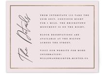 Pinecrest Foil-Pressed Direction Cards