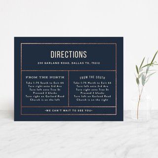Nautical By Nature Foil-Pressed Direction Cards