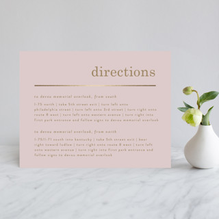 Textbook Foil-Pressed Direction Cards