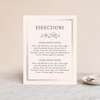 Alabaster Florals Foil-Pressed Direction Cards