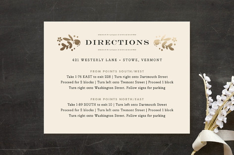 Sun Bleached Florals Foil-Pressed Direction Cards