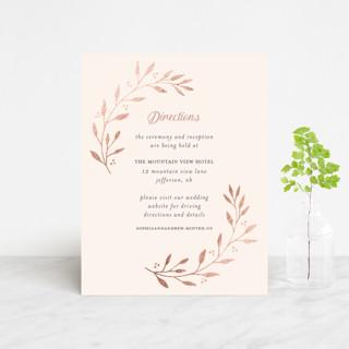 Vineyard Foil-Pressed Direction Cards
