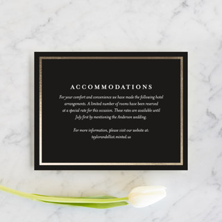 Nyc Style Foil-Pressed Direction Cards