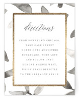 Gilded Woodgrain Foil-Pressed Direction Cards