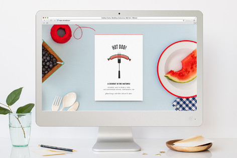 Fork It Over Summer Party Online Invitations