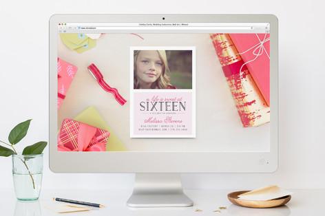 Beautifully Sweet Teen Birthday Party Online Invitations