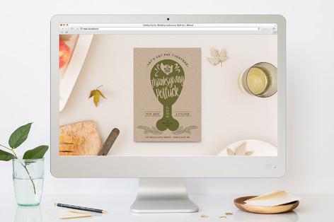 Witty Potluck Thanksgiving Online Invitations