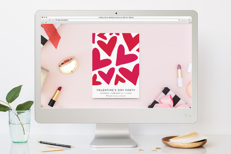 Heart Profusion Valentine's Day Online Invitations
