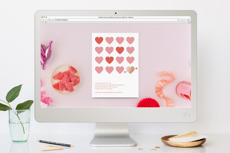 Valentines Heart Grid Valentine's Day Online Invitations
