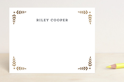 Glittered Monogram Foil-Pressed Stationery