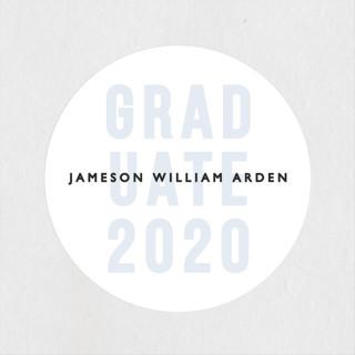 Layered Grad Party Graduation Stickers