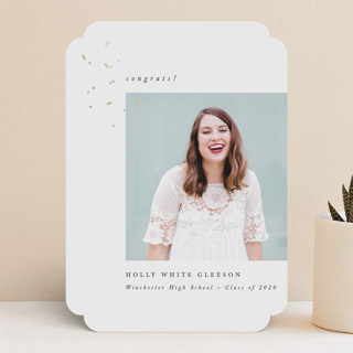 Confetti Grad Foil-Pressed Graduation Announcements