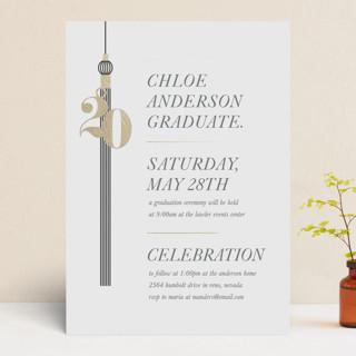 tasseled celebrations Foil-Pressed Graduation Announcements