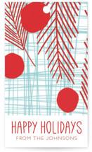 Red Sprigs in Winter by Deborah Velasquez