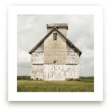 weathered barn Art Prints