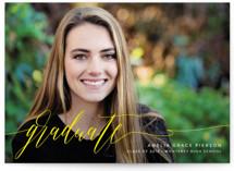 scripted graduate Graduation Announcement Postcards