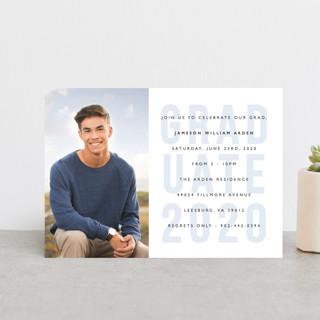 Layered Grad Party Graduation Announcement Postcards