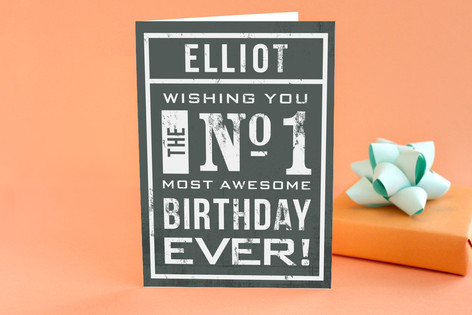 No 1 Birthday Greeting Cards