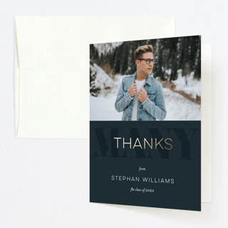 classic party Foil-Pressed Graduation Announcement Thank You Cards