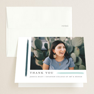 holiday brushed Graduation Thank You Cards