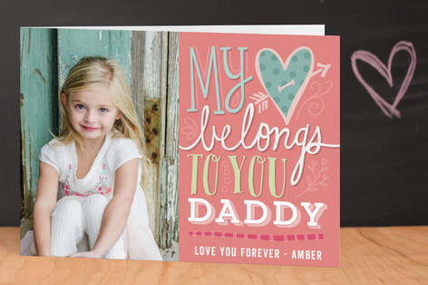 My Heart Belongs Valentine's Day Greeting Cards