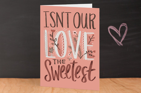 Sweetest Love Valentine's Day Greeting Cards