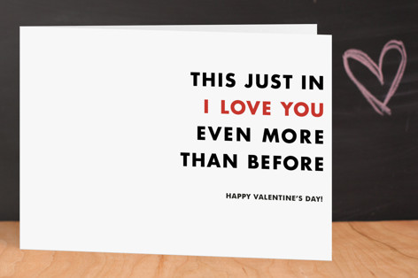 News Flash Valentine's Day Greeting Cards